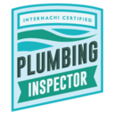 This icon represents Florida Certified Home Inspections' InterNACHI certificate as a plumbing inspector.