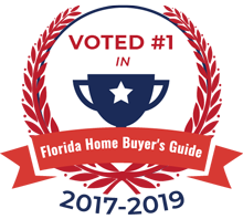This icon shows that Florida Certified Home Inspections was voted the #1 home inspector in Florida by the Florida Home Buyer's Guide for three years in a row.